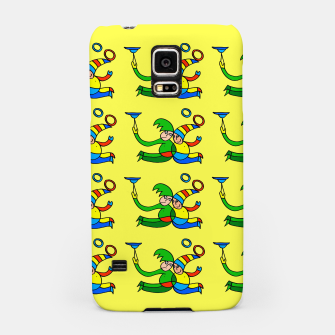 Thumbnail image of Multiplied Twin Jugglers In Color for Kids on Yellow Board  Samsung Case, Live Heroes