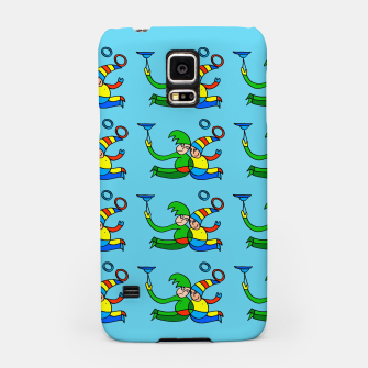 Thumbnail image of Multiplied Twin Jugglers In Color for Kids on Blue Board  Samsung Case, Live Heroes