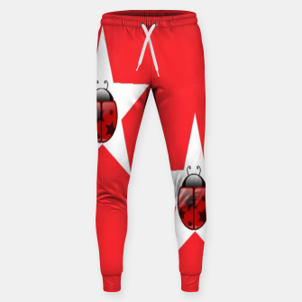 Thumbnail image of Ladybugs in stars Sweatpants, Live Heroes