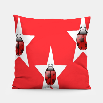 Thumbnail image of Ladybugs in stars Pillow, Live Heroes