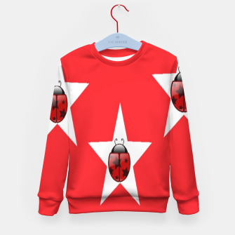 Thumbnail image of Ladybugs in stars Kid's sweater, Live Heroes