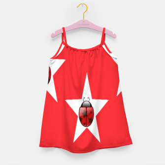 Thumbnail image of Ladybugs in stars Girl's dress, Live Heroes