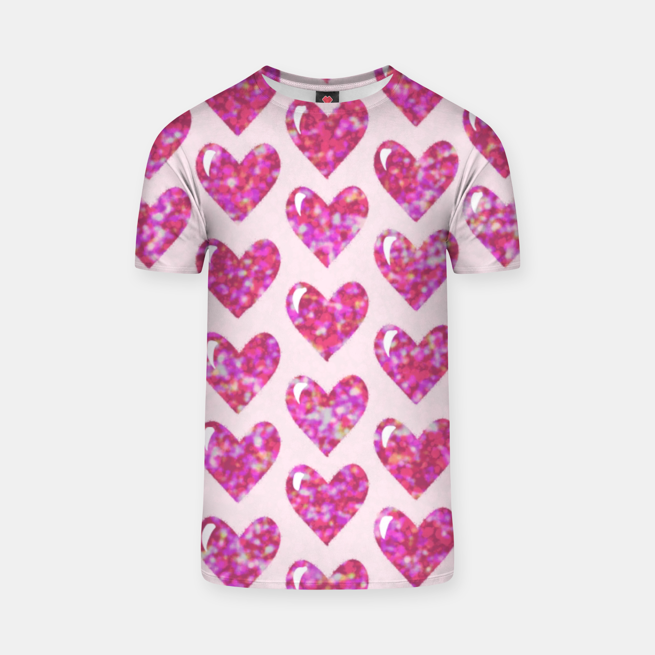Image of Pink Bright Hearts  Camiseta - Live Heroes
