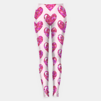 Thumbnail image of Pink Bright Hearts  Leggings, Live Heroes