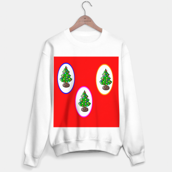 Thumbnail image of Christmas trees on red Sweater regular, Live Heroes