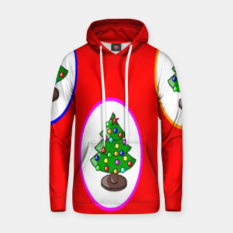 Thumbnail image of Christmas trees on red Hoodie, Live Heroes