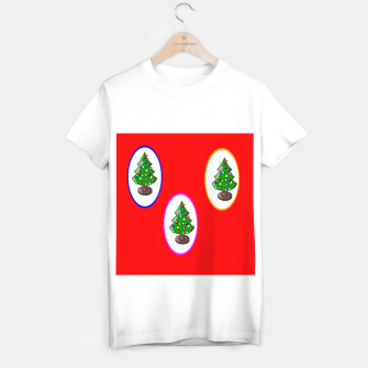 Thumbnail image of Christmas trees on red T-shirt regular, Live Heroes