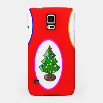Thumbnail image of Christmas trees on red Samsung Case, Live Heroes