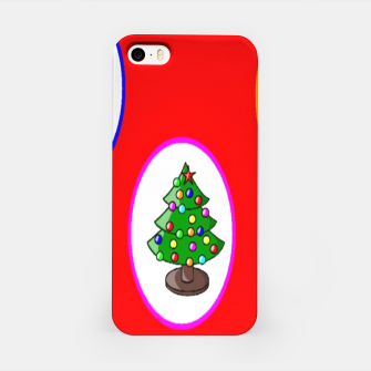 Thumbnail image of Christmas trees on red iPhone Case, Live Heroes