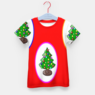 Thumbnail image of Christmas trees on red Kid's t-shirt, Live Heroes