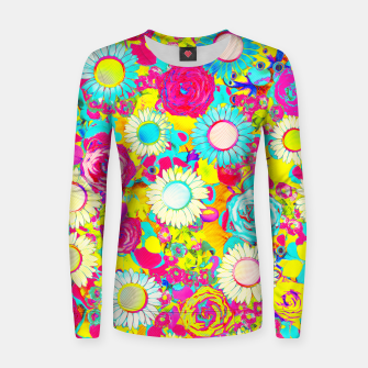 Thumbnail image of Colored Garden Women sweater, Live Heroes