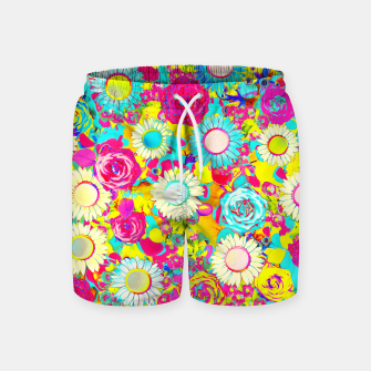 Thumbnail image of Colored Garden Swim Shorts, Live Heroes