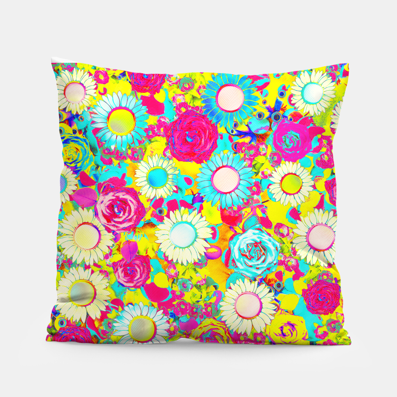 Image of Colored Garden Pillow - Live Heroes