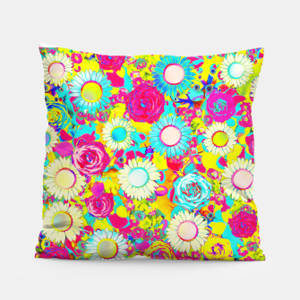 Thumbnail image of Colored Garden Pillow, Live Heroes