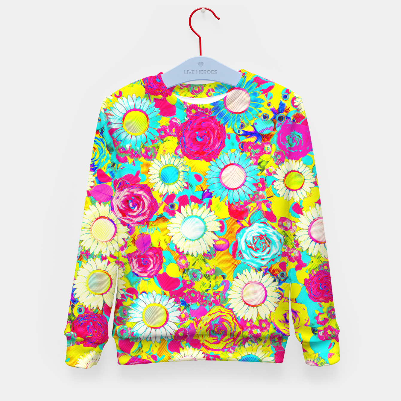 Image of Colored Garden Kid's sweater - Live Heroes