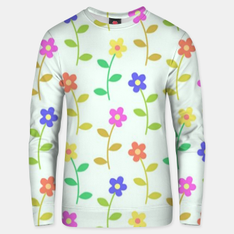 Thumbnail image of Colorful flowers on green Unisex sweater, Live Heroes