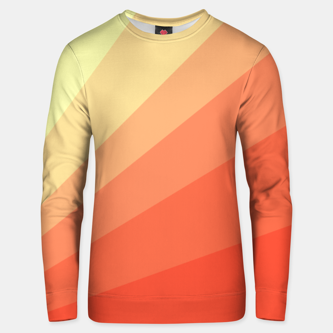 Image of The Sun is rising, abstract sun rays print in soft colors  Unisex sweater - Live Heroes