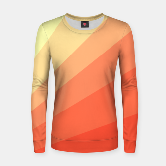 The Sun is rising, abstract sun rays print in soft colors  Women sweater thumbnail image