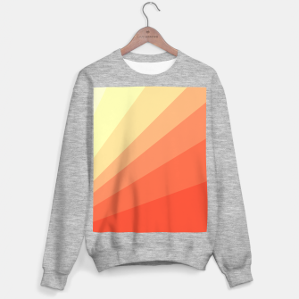 The Sun is rising, abstract sun rays print in soft colors  Sweater regular thumbnail image