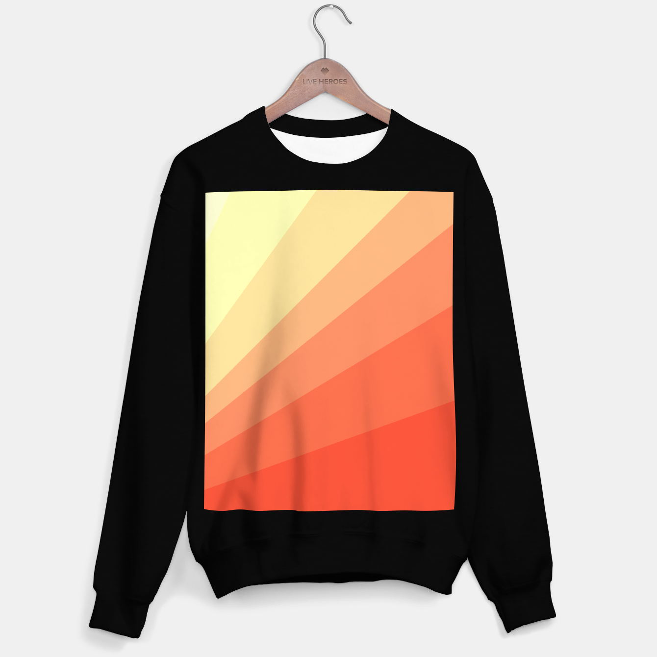Image of The Sun is rising, abstract sun rays print in soft colors  Sweater regular - Live Heroes