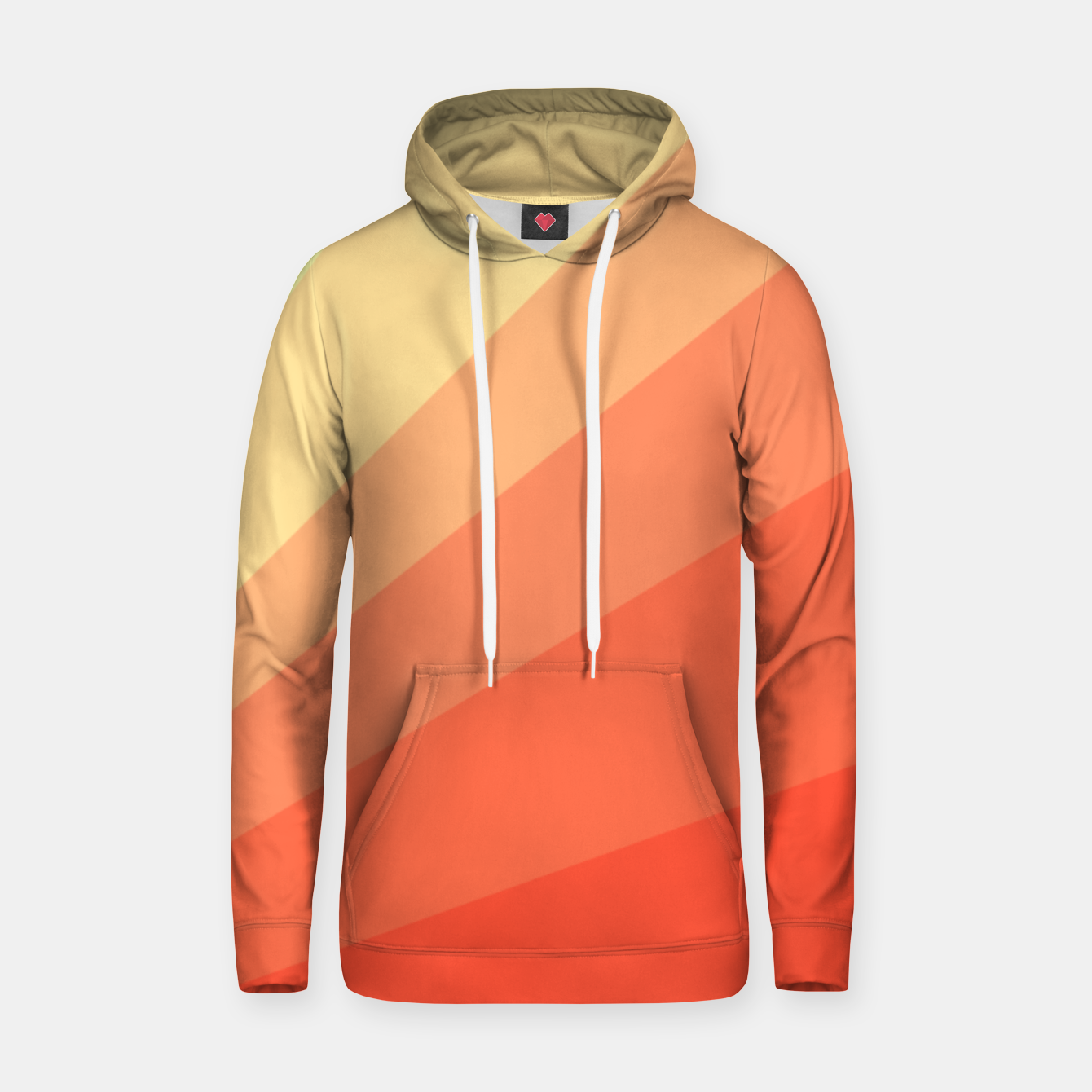 Image of The Sun is rising, abstract sun rays print in soft colors  Hoodie - Live Heroes