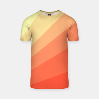 The Sun is rising, abstract sun rays print in soft colors  T-shirt thumbnail image