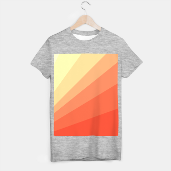 The Sun is rising, abstract sun rays print in soft colors  T-shirt regular thumbnail image