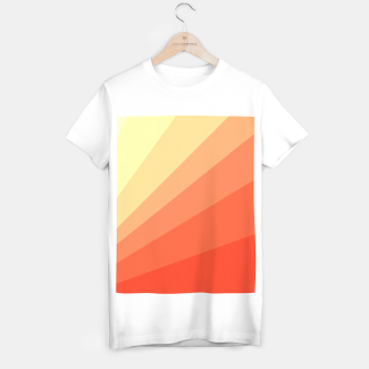 Thumbnail image of The Sun is rising, abstract sun rays print in soft colors  T-shirt regular, Live Heroes