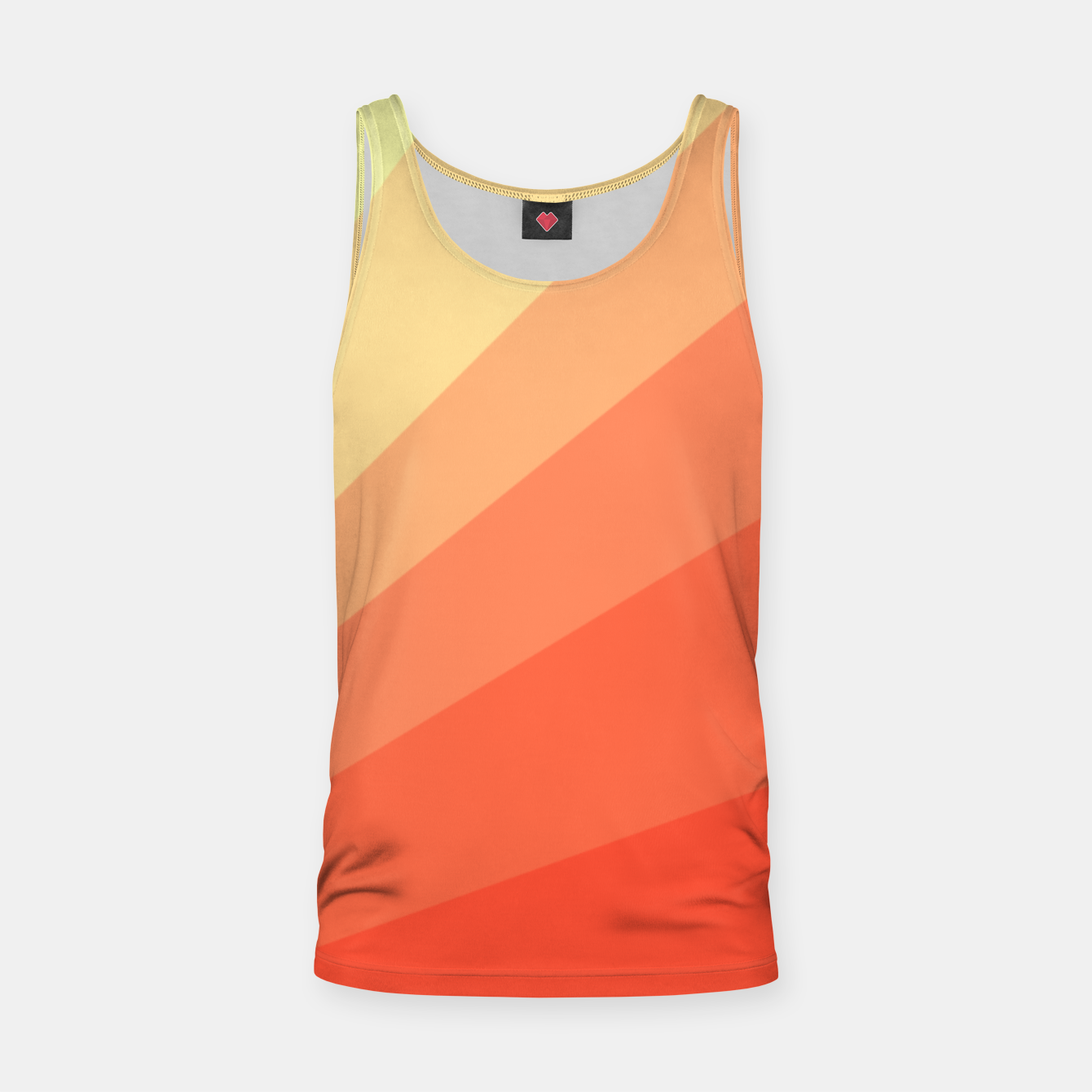 Image of The Sun is rising, abstract sun rays print in soft colors  Tank Top - Live Heroes