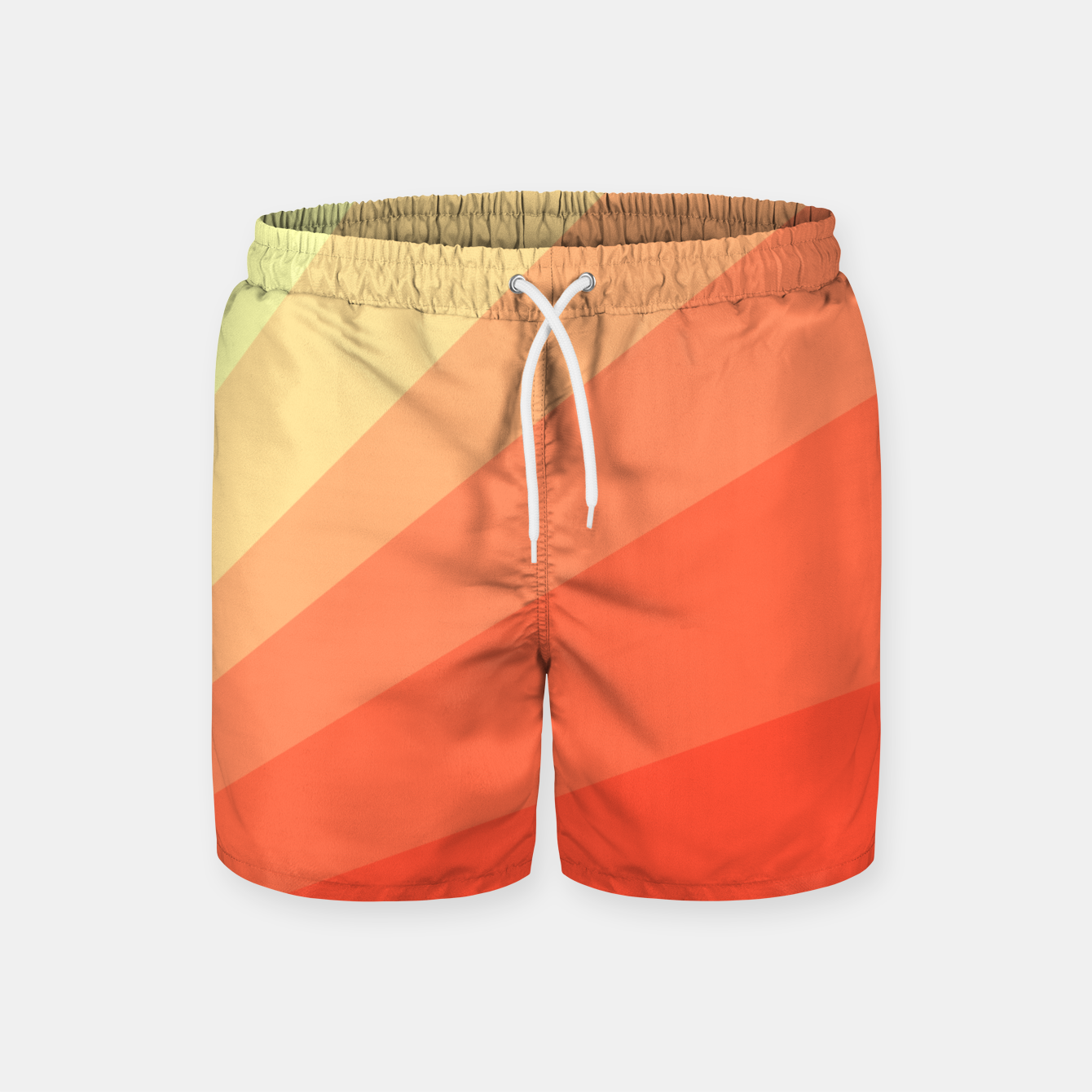 Image of The Sun is rising, abstract sun rays print in soft colors  Swim Shorts - Live Heroes