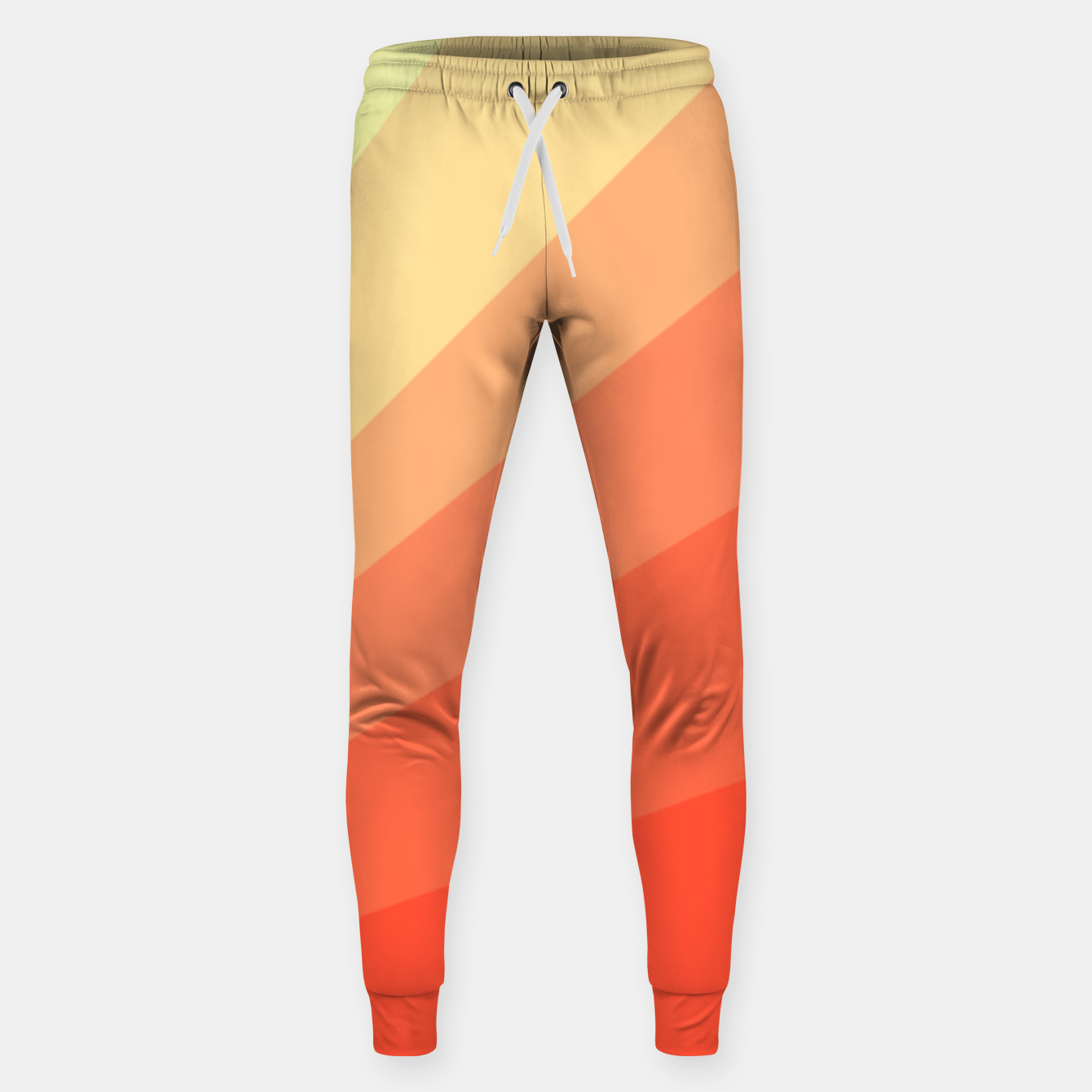 Image of The Sun is rising, abstract sun rays print in soft colors  Sweatpants - Live Heroes