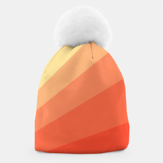 The Sun is rising, abstract sun rays print in soft colors  Beanie thumbnail image