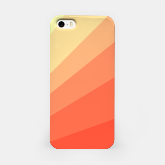 The Sun is rising, abstract sun rays print in soft colors  iPhone Case thumbnail image