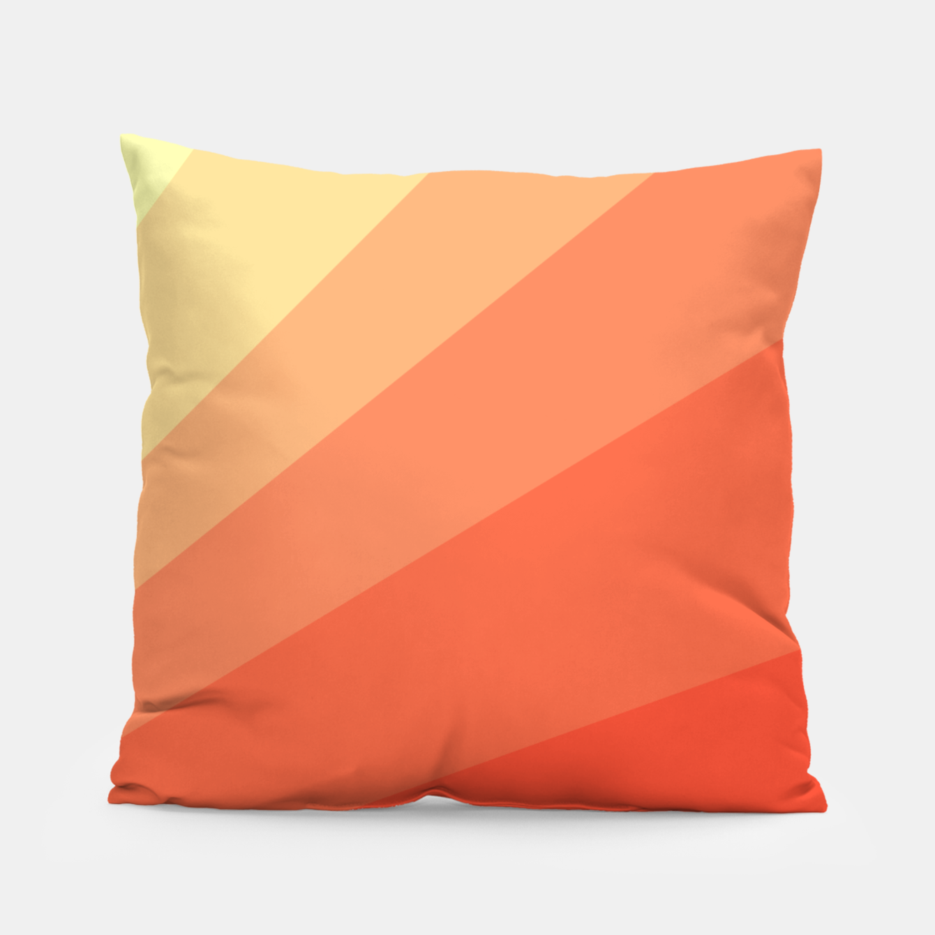 Image of The Sun is rising, abstract sun rays print in soft colors  Pillow - Live Heroes