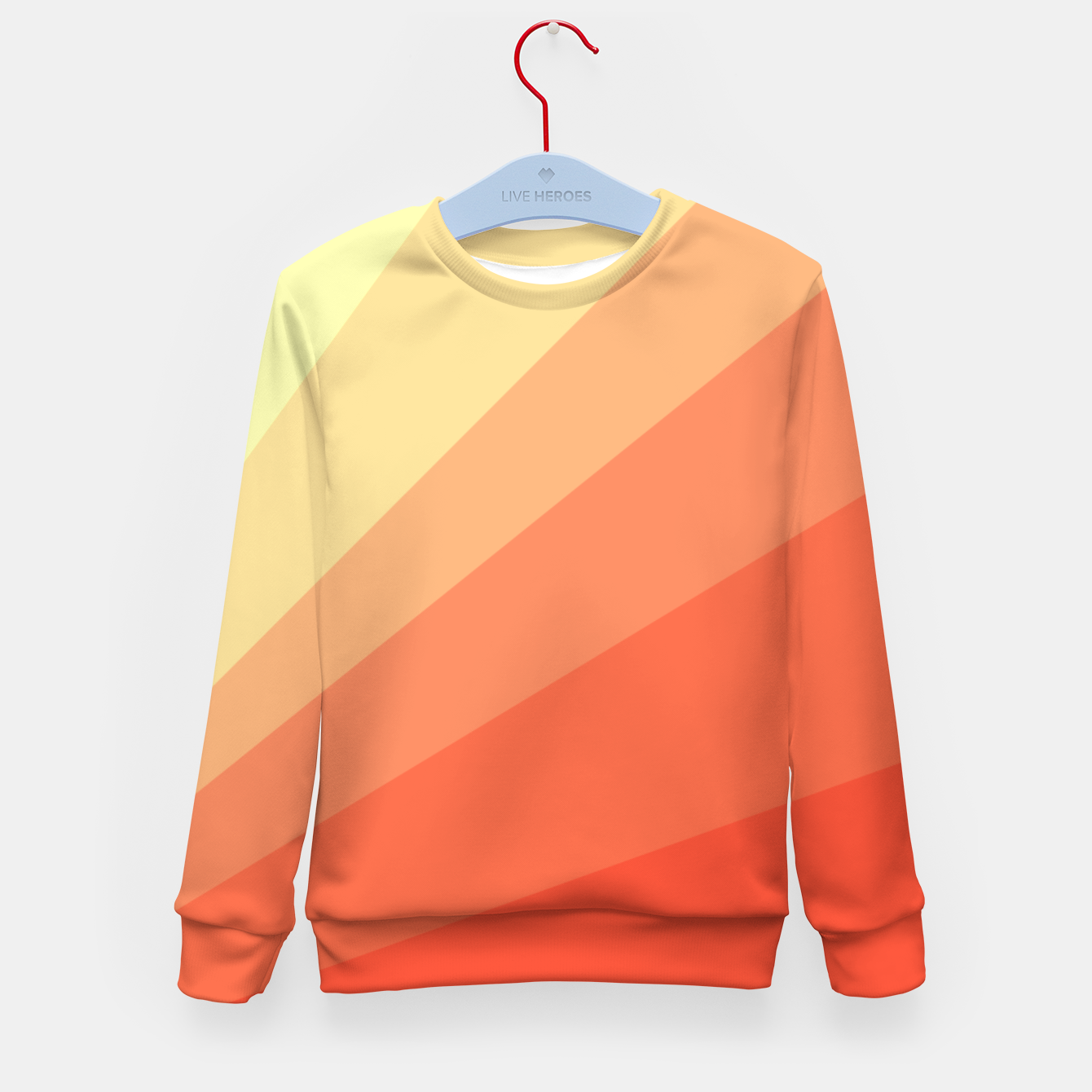 Image of The Sun is rising, abstract sun rays print in soft colors  Kid's sweater - Live Heroes