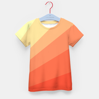 The Sun is rising, abstract sun rays print in soft colors  Kid's t-shirt thumbnail image