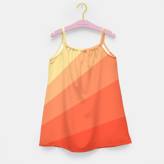 The Sun is rising, abstract sun rays print in soft colors  Girl's dress thumbnail image
