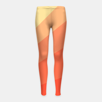 The Sun is rising, abstract sun rays print in soft colors  Girl's leggings thumbnail image
