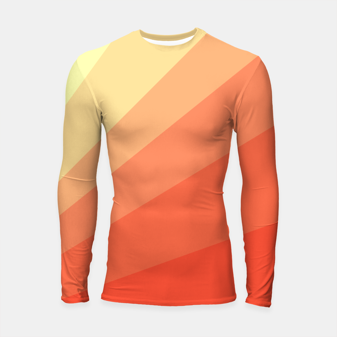 Image of The Sun is rising, abstract sun rays print in soft colors  Longsleeve rashguard  - Live Heroes