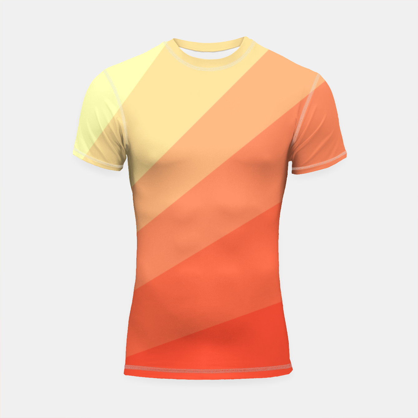 Image of The Sun is rising, abstract sun rays print in soft colors  Shortsleeve rashguard - Live Heroes