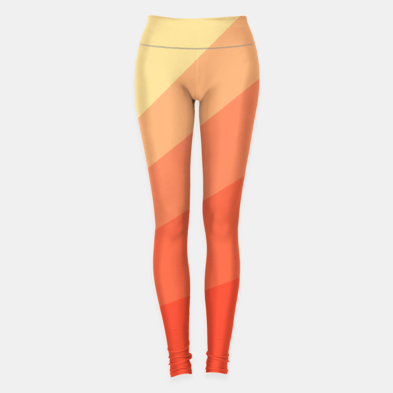 Image of The Sun is rising, abstract sun rays print in soft colors  Leggings - Live Heroes