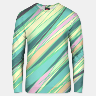 Thumbnail image of Pencil scratches colorful print, vibrant colors, summer design Unisex sweater, Live Heroes