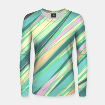 Thumbnail image of Pencil scratches colorful print, vibrant colors, summer design Women sweater, Live Heroes