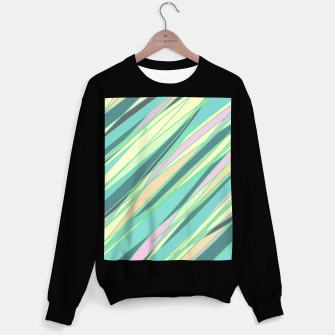 Thumbnail image of Pencil scratches colorful print, vibrant colors, summer design Sweater regular, Live Heroes
