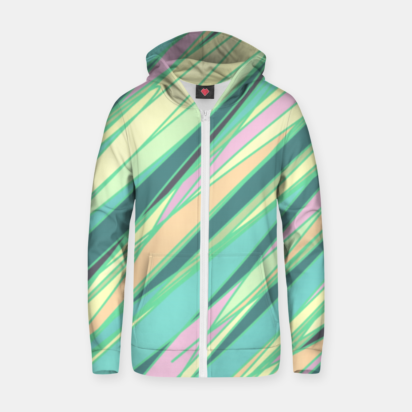 Image of Pencil scratches colorful print, vibrant colors, summer design Zip up hoodie - Live Heroes