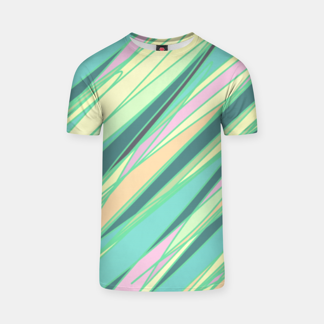 Image of Pencil scratches colorful print, vibrant colors, summer design T-shirt - Live Heroes