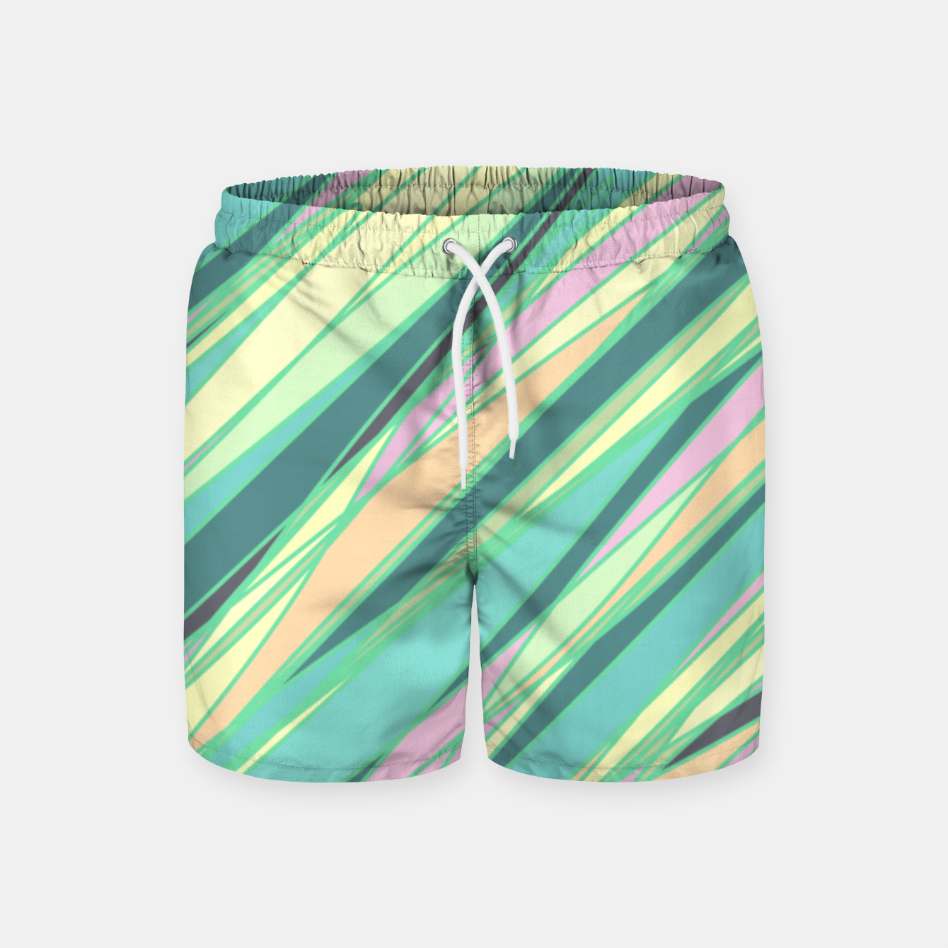 Image of Pencil scratches colorful print, vibrant colors, summer design Swim Shorts - Live Heroes
