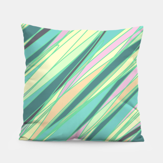 Thumbnail image of Pencil scratches colorful print, vibrant colors, summer design Pillow, Live Heroes