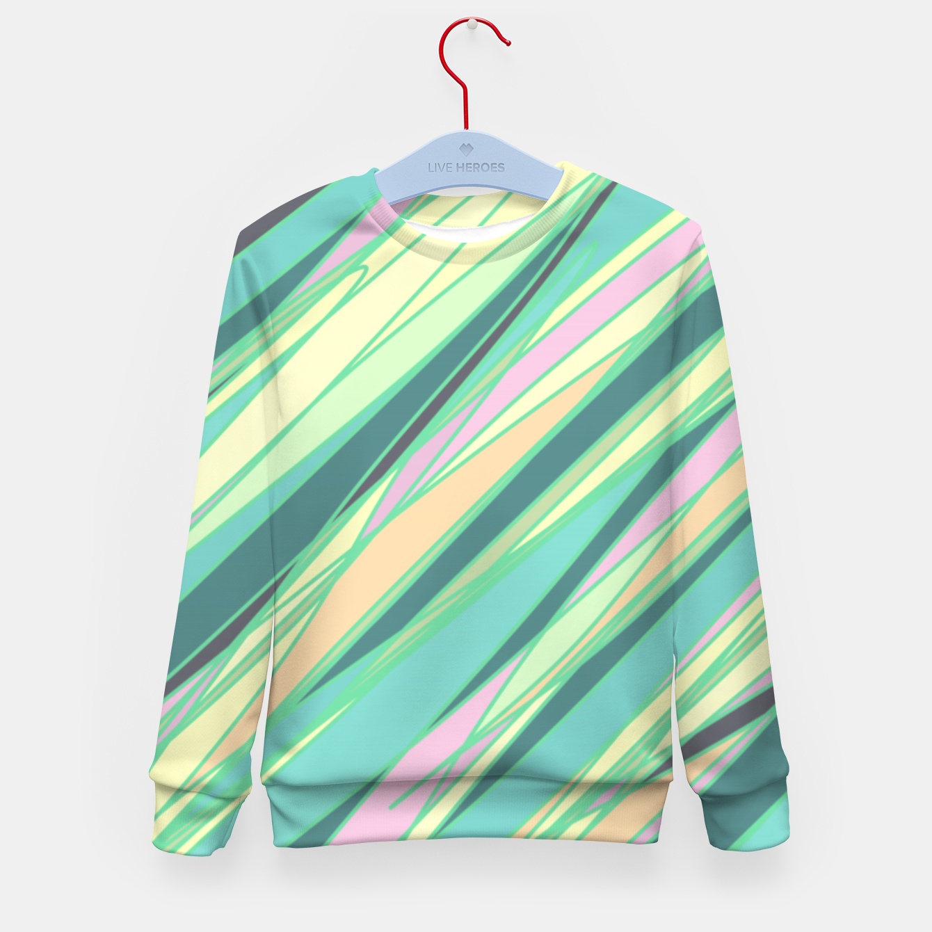 Image of Pencil scratches colorful print, vibrant colors, summer design Kid's sweater - Live Heroes