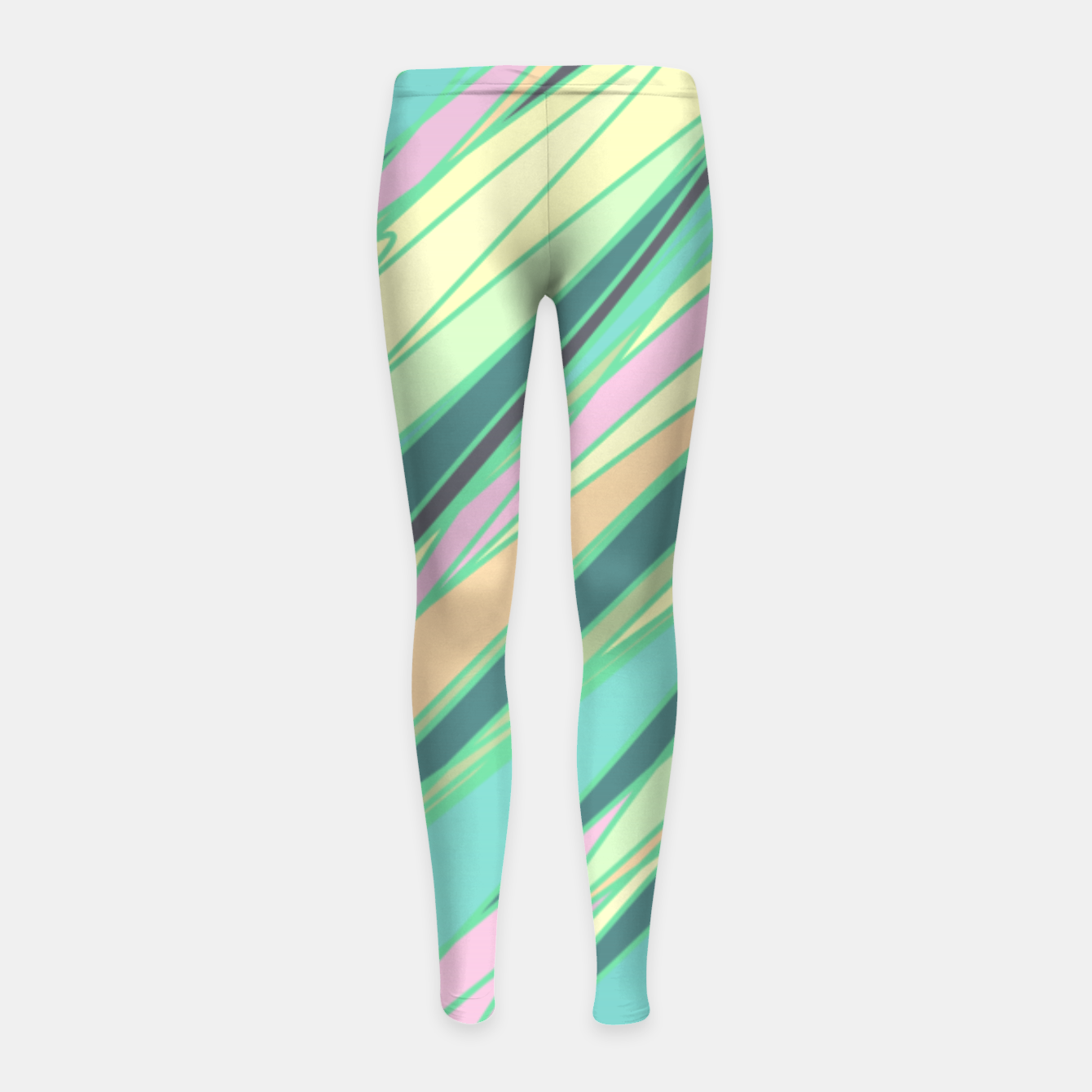 Image of Pencil scratches colorful print, vibrant colors, summer design Girl's leggings - Live Heroes